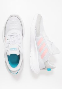 adidas Performance - TENSAUR RUN UNISEX - Obuwie do biegania treningowe - dash grey/glow pink/bright cyan - 0