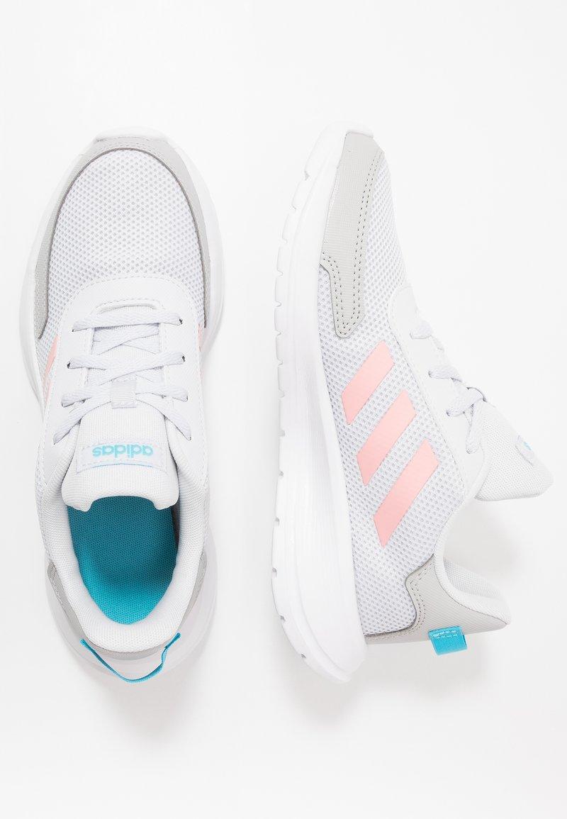 adidas Performance - TENSAUR RUN UNISEX - Neutral running shoes - dash grey/glow pink/bright cyan
