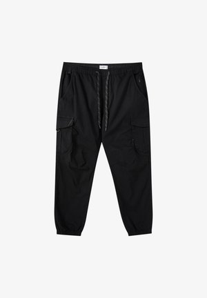 Cargo trousers - mottled black