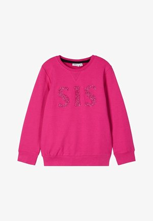 RUNDHALSAUSSCHNITT - Sweater - very berry