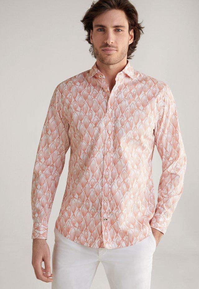 HANJO - Shirt - weiß-dark rosa