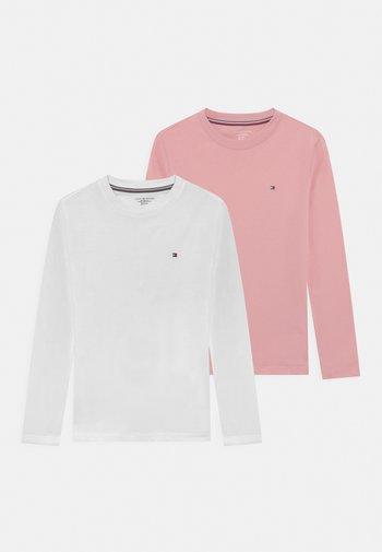 UNISEX 2 PACK - Maglietta a manica lunga - rose tan/white
