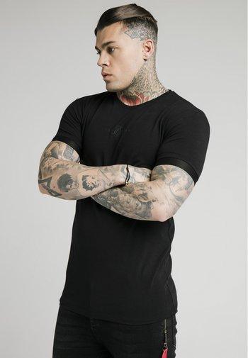 INSET CUFF GYM TEE - T-shirt - bas - black
