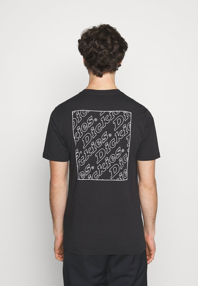 BOX REPEAT - Print T-shirt - black
