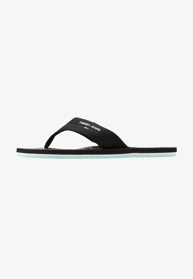 BEACH  - T-bar sandals - black