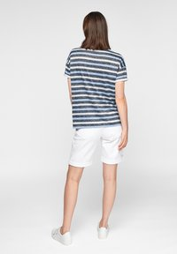 comma casual identity - Print T-shirt - dark blue stripes - 2