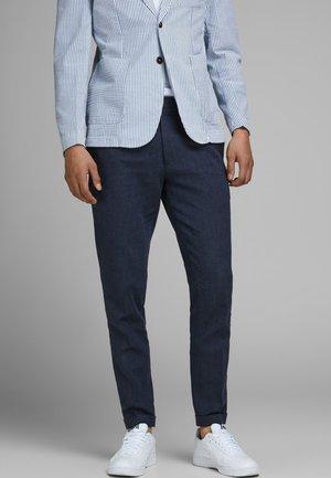 LINEN MIXED FIBER SUIT PANTS - Pantaloni eleganti - dark navy