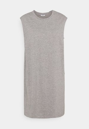 NMMAYDEN SHORT DRESS - Jersey dress - light grey melange