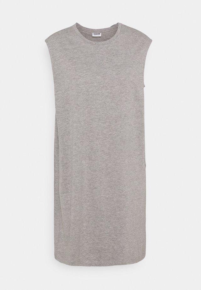 NMMAYDEN SHORT DRESS - Vestido ligero - light grey melange