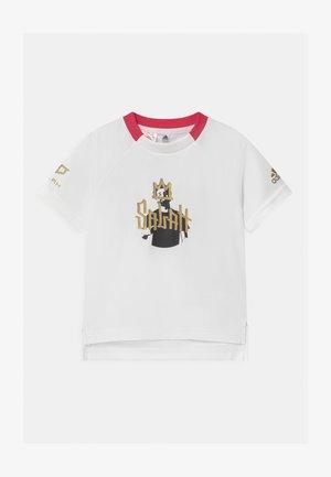 UNISEX - T-Shirt print - white/gold