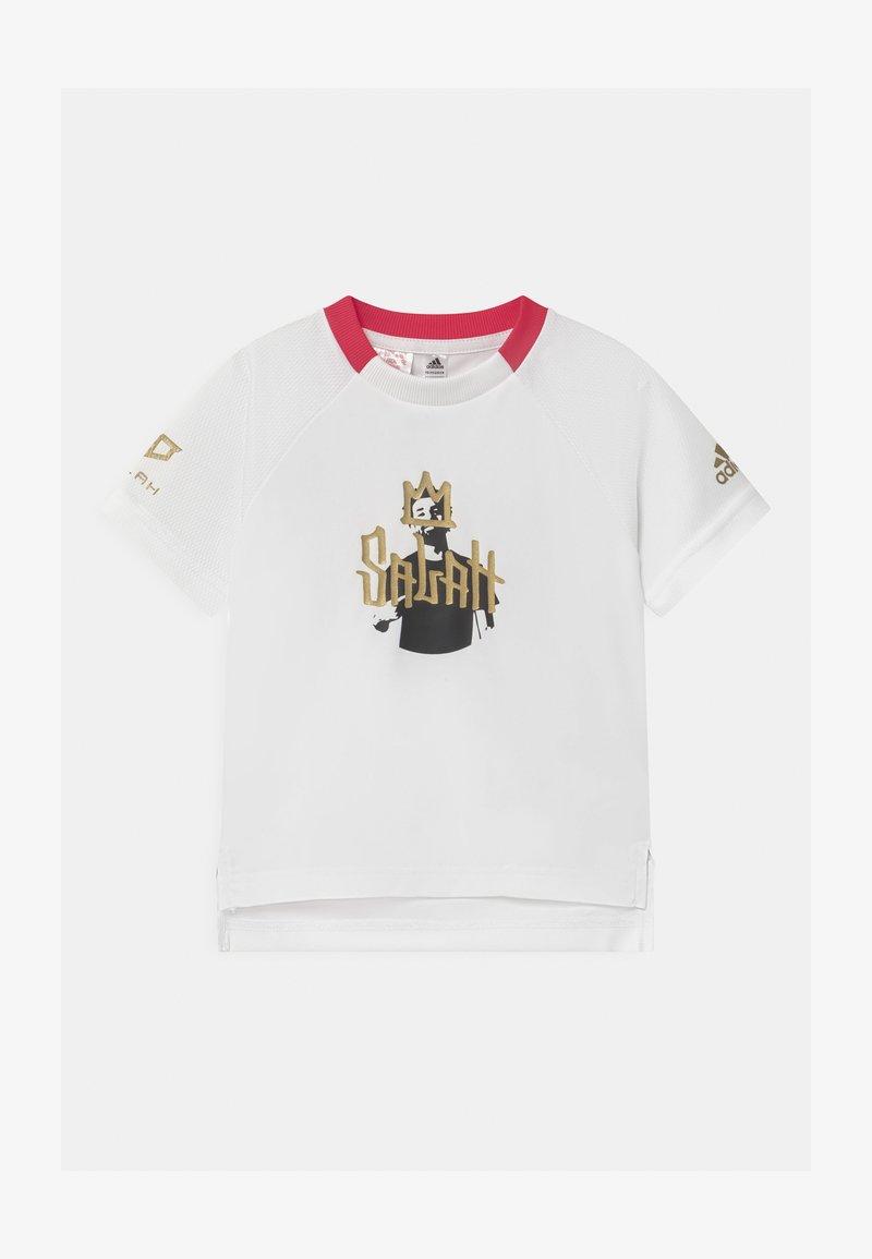 adidas Performance - UNISEX - Print T-shirt - white/gold