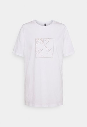 PCLASIE - Print T-shirt - bright white