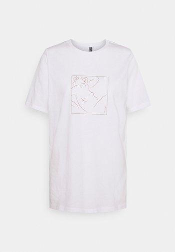 PCLASIE - T-shirt print - bright white