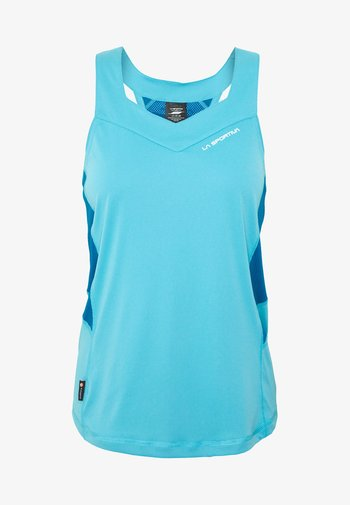 JOY TANK - T-shirt sportiva - pacific blue/neptune