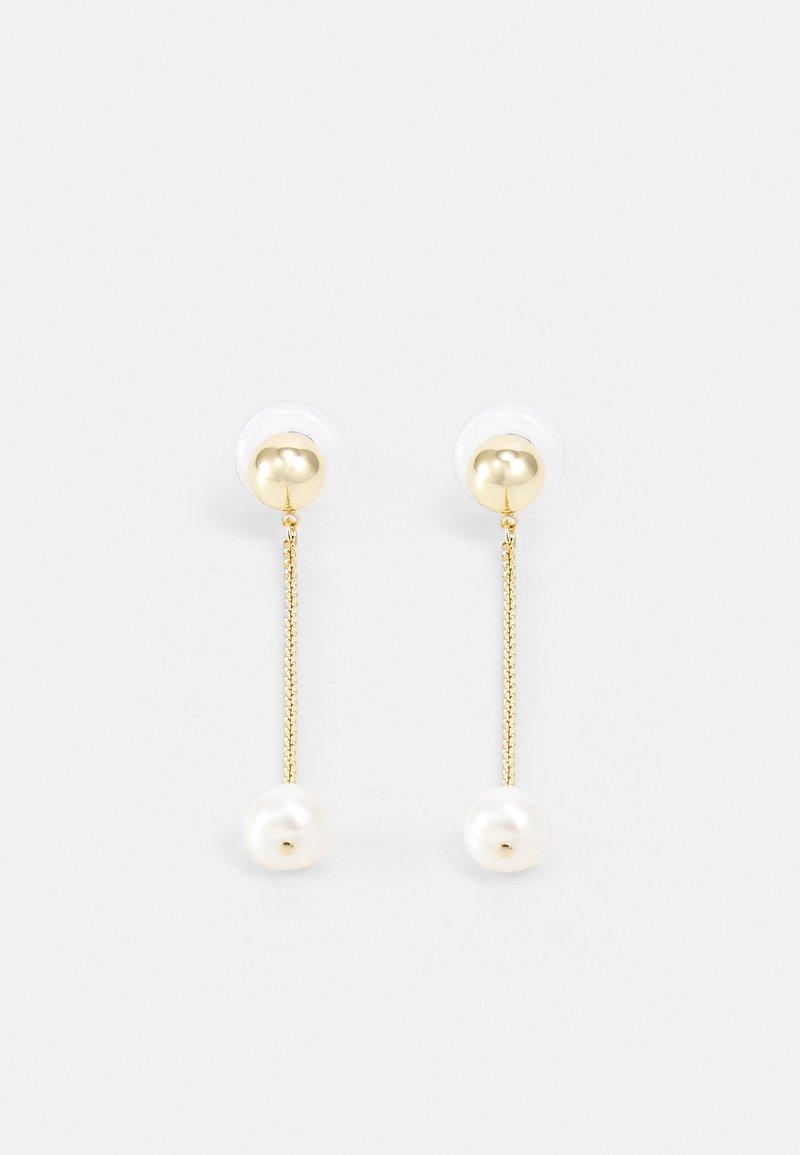 Lauren Ralph Lauren - BALL LINEAR - Earrings - gold-coloured/white