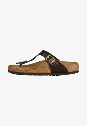 GIZEH  - T-bar sandals - myda wine