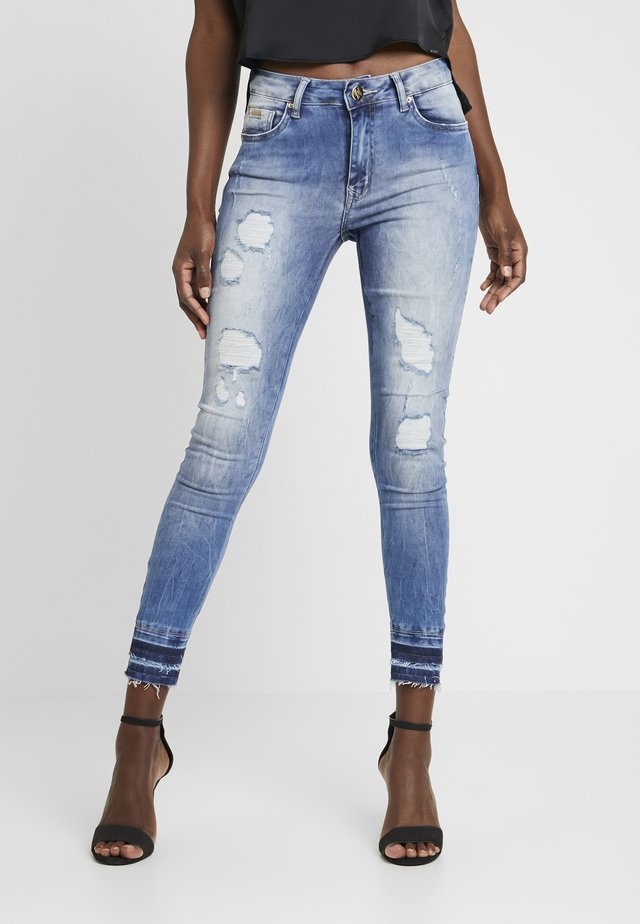 CALCA COM - Jean slim - blue denim