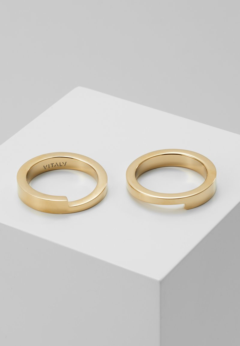 Vitaly - GRIDLOK 2PACK - Ring - gold-coloured