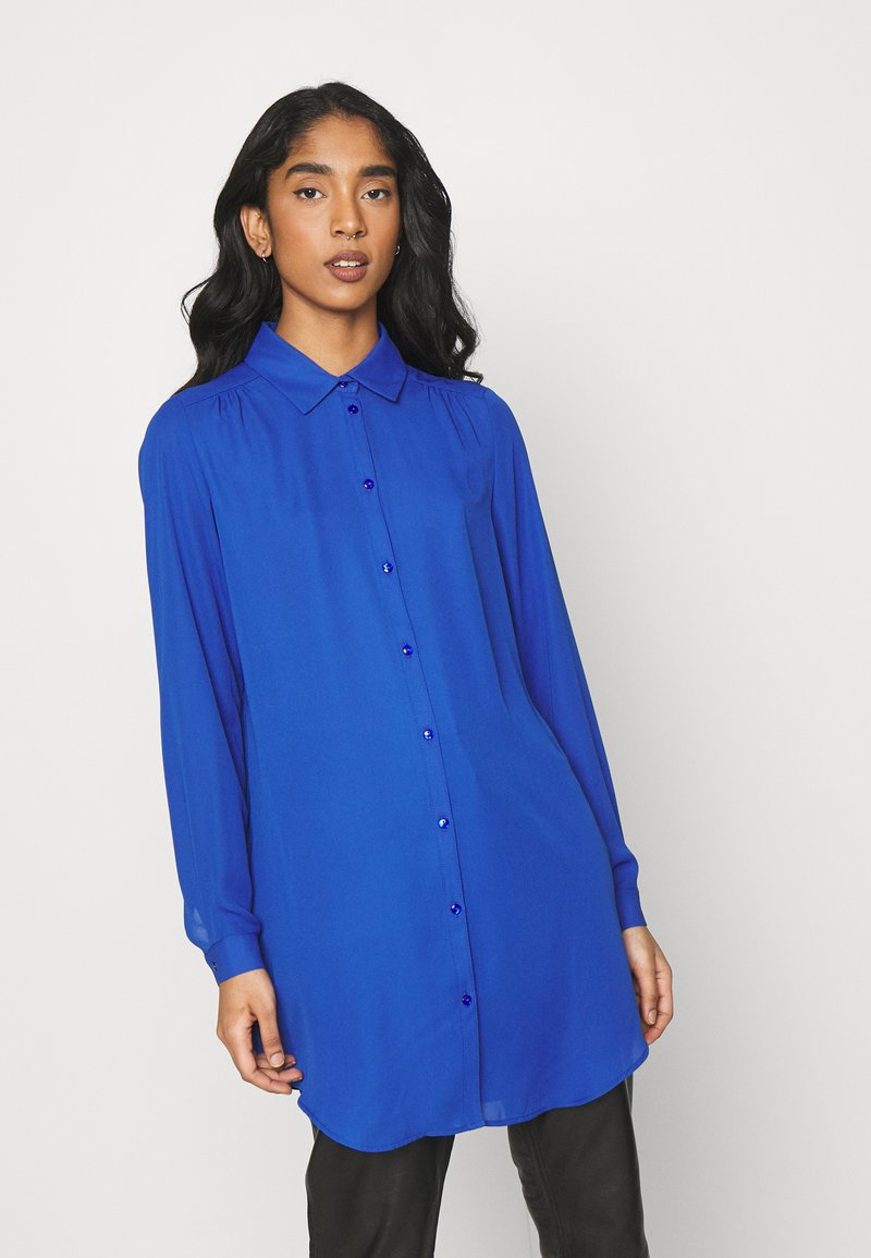 Vila - VILUCY BUTTON - Button-down blouse - mazarine blue
