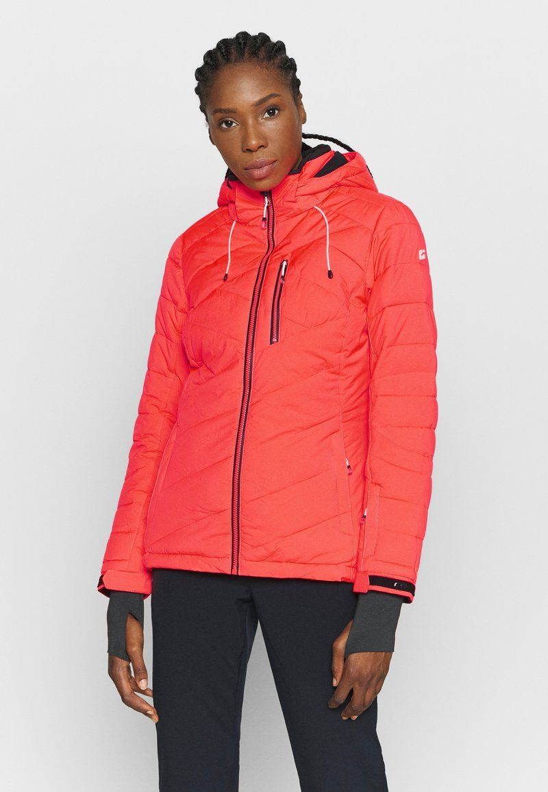 Killtec - SAVOGNIN QUILTED - Ski jacket - neon coral