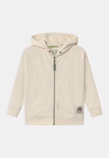 ZIP-THROUGH HOODIE WITH ARTWORK - Zip-up sweatshirt - off white