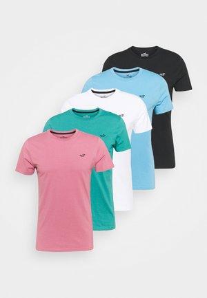 SEASONAL SOLID 5 PACk - T-shirt basique - white