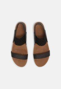 Skechers - BRIE - Platform sandals - black sparkle - 4