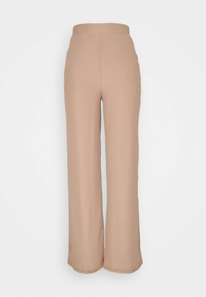 WIDE POCKET PANTS - Trousers - beige