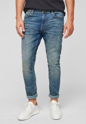 SLIM USED - Slim fit jeans - light blue