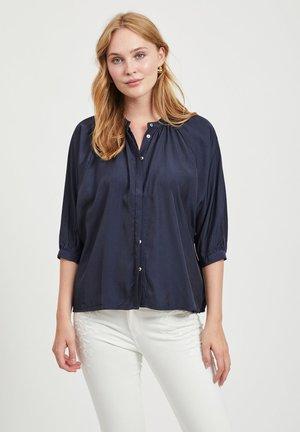 3/4 SLEEVE - Button-down blouse - navy blazer