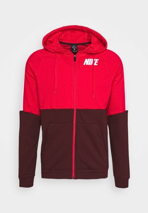 DRY  - Zip-up hoodie - university red/mystic dates/white