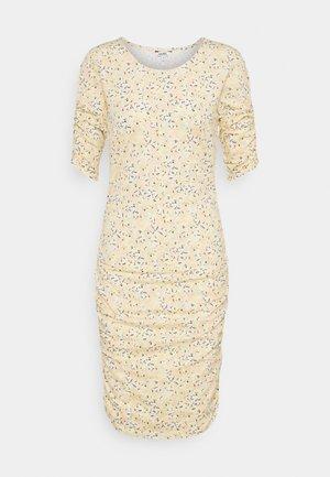 DOMINO - Jersey dress - yellow