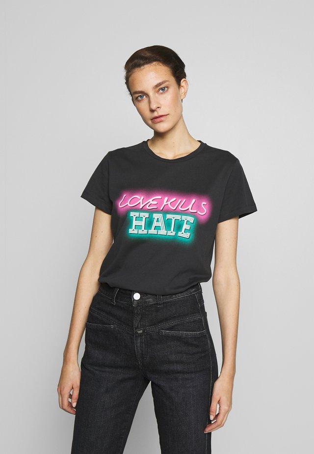 GALLIANO  - T-shirt con stampa - black
