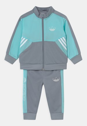 SET UNISEX - Trainingspak - turquoise/grey