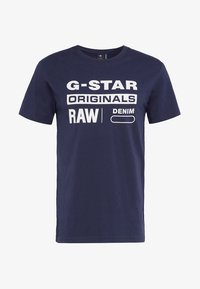 G-Star - GRAPHIC LOGO 8 T-SHIRT - T-shirt print - sartho blue - 3