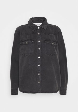 BYKALKA  - Button-down blouse - dark grey denim
