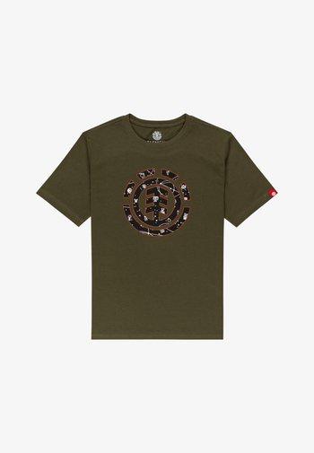 COOKIE GALAXY - Print T-shirt - army