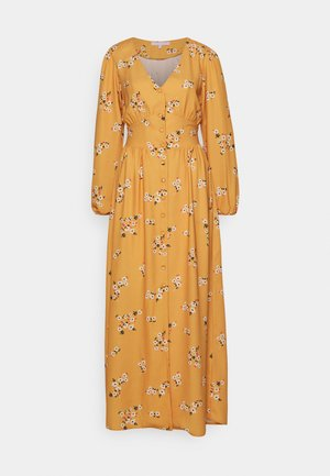 TRUE PLUNGE FRONT WITH BUTTON DETAIL - Maxi šaty - yellow