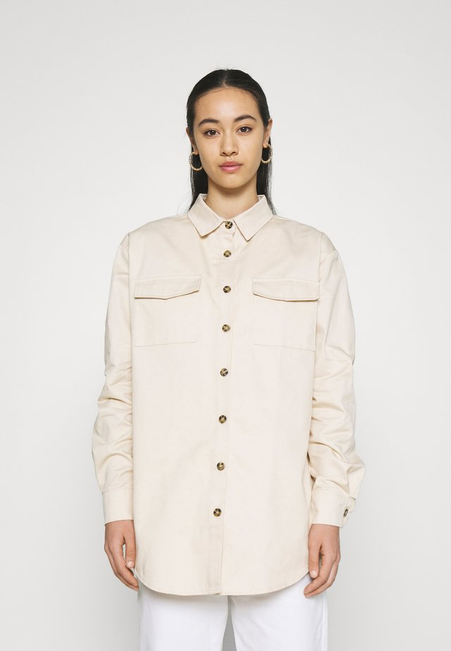 POCKET DETAIL - Button-down blouse - nude rose