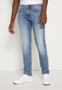 TOM TAILOR DENIM - PIERS - Jeans slim fit - bleached blue denim - 0