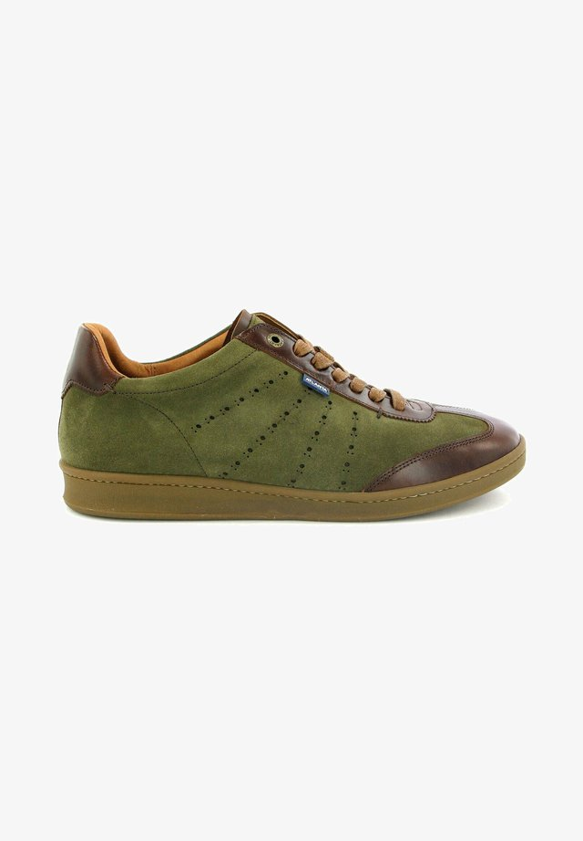T-SNEAKERS IN SUEDE LEATHER - Sneakers basse - kaki