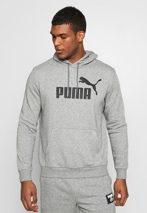 HOODY BIG LOGO - Luvtröja - medium gray heather