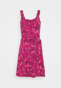 Dorothy Perkins - SPOT RUFFLE FIT AND FLARE - Jerseykjole - pink - 4