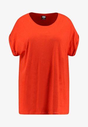 LADIES EXTENDED SHOULDER TEE - Basic T-shirt - bloodorange