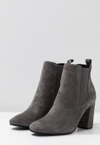 Anna Field Select - LEATHER HIGH HEELED ANKLE BOOTS - Stivaletti con tacco - grey - 4