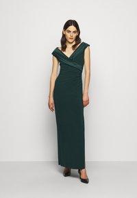 Lauren Ralph Lauren - MID WEIGHT LONG GOWN COMBO - Occasion wear - deep pine - 0