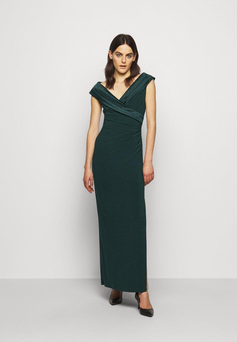 Lauren Ralph Lauren - MID WEIGHT LONG GOWN COMBO - Occasion wear - deep pine
