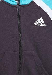 adidas Performance - HOODIE TRAINING SPORTS TRACKSUIT - Dres - purple/cyan/white - 2