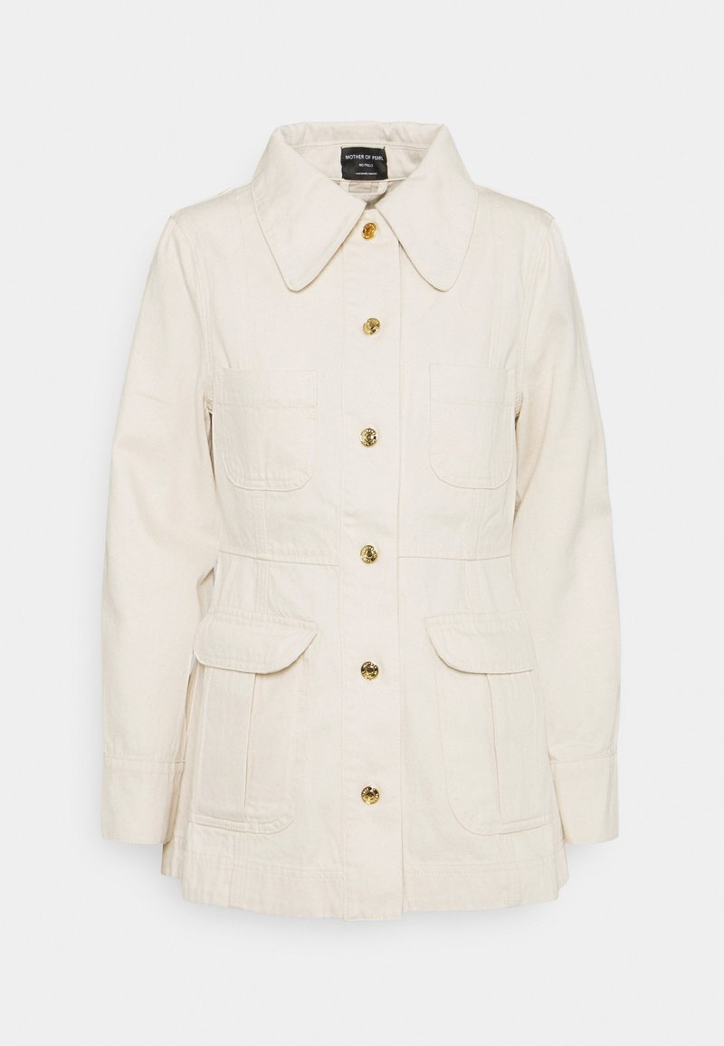 Mother of Pearl - JACKET WITH PATCH POCKETS - Denim jacket - ecru