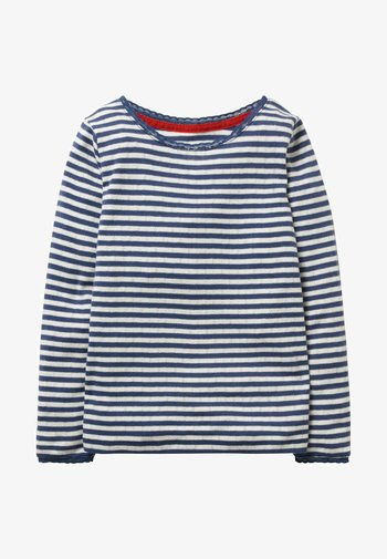 SUPERWEICHES POINTELLE - Long sleeved top - blue